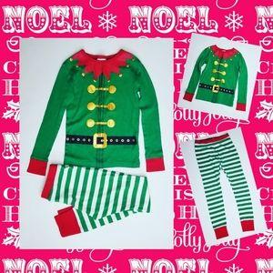 Kids Unisex Christmas Elf Pajama Set Size 6